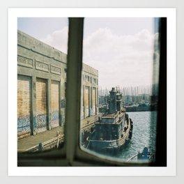 (the abandoned wharf) Art Print