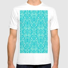 Cut Paper White MEDIUM Mens Fitted Tee
