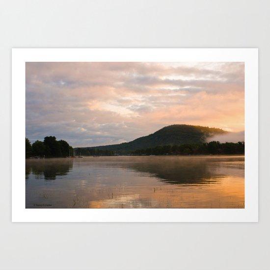 First Light (Sunrise on Lake George) Art Print