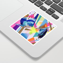 Geo Fly Birds Sticker