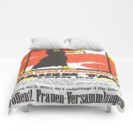 Vintage poster - Fruen Tag Comforters