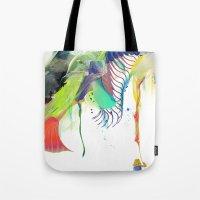 archan nair Tote Bags featuring Azalia by Archan Nair