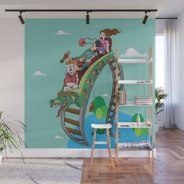 Rollercoaster Wall Mural