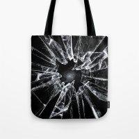 broken Tote Bags featuring Broken by nicebleed