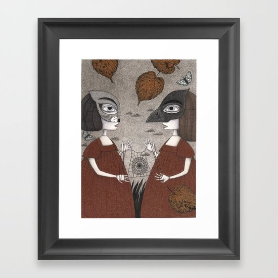 Ana and Eva (An All Hallows' Eve Tale) Framed Art Print
