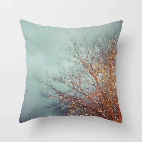 December Lights Throw Pillow