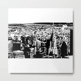 Abstract Cityscape of New York Metal Print