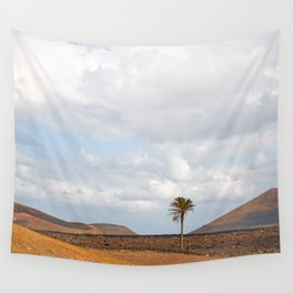 Lanzarote Palm tree landscape Wall Tapestry