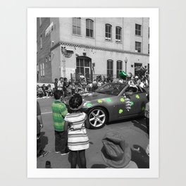 Splash of Green Art Print