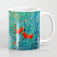 poppy Mugs featuring Poppy by Karl-Heinz Lüpke