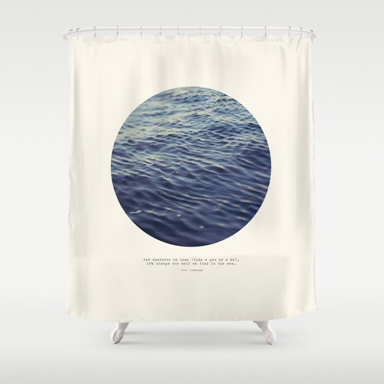 You or Me Shower Curtain