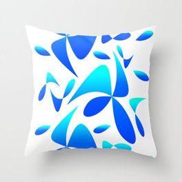 Pattern 161 blue turquoise Throw Pillow