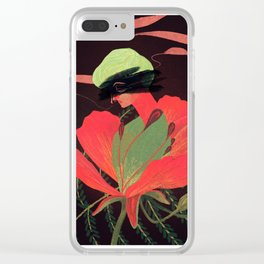 Phoenix Flower Clear iPhone Case