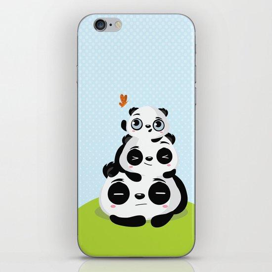 Panda family iPhone & iPod Skin