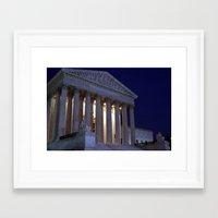 supreme Framed Art Prints featuring Supreme court by Dr. Tom Osborne