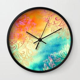 Watercolor Wonderland Wall Clock
