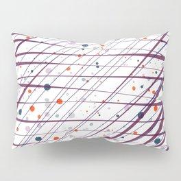 Maroon Splatter Pattern Pillow Sham
