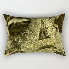 glowing Sloth Rectangular Pillow