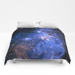 Blue Embrionic Stars Comforters