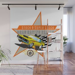 hot rod teeshirt Wall Mural