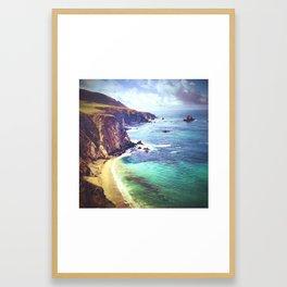 Big Sur Coastline Framed Art Print