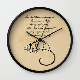 To a Mouse - Robert Burns - Mice and Men Wall Clock