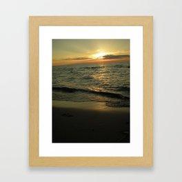 Michigan Sunset 2 Framed Art Print