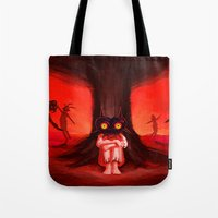 majora Tote Bags featuring MAJORA MASK by Veylow