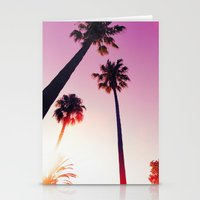 palm tree Stationery Cards featuring Palm tree by Emma.B