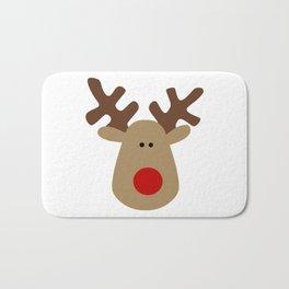 Christmas Reindeer-White Bath Mat