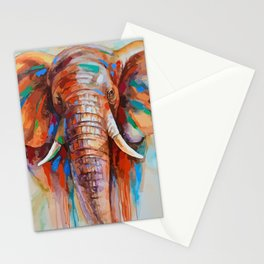 A COLORFUL ELEPHANT Stationery Cards