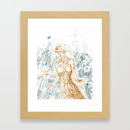 I KNOW YOU ARE BUT WHAT AM I. Framed Art Print