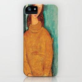 Portrait of Jeanne Hébuterne by Amedeo Modigliani iPhone Case