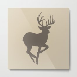 Buck01 Brown Tan Metal Print