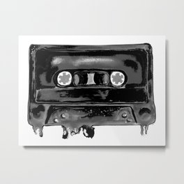 Black Tape Metal Print