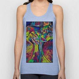 4281s-RES Abstract Pop Color Erotica Pleasuring Psychedelic Yoni Self Love Unisex Tank Top