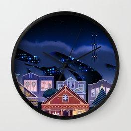 Christmas in San Francisco Wall Clock