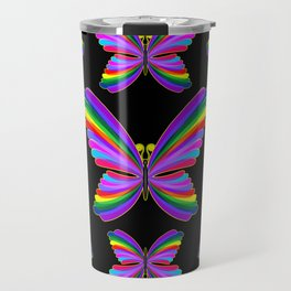 Butterfly Psychedelic Rainbow Travel Mug