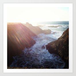 Point Cabrillo Headlands - Northern California Coast Art Print