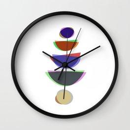 Mid Century Uno - Abstract Pastel Art Wall Clock