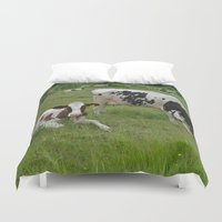 wisconsin Duvet Covers featuring Wisconsin Life by Teresa Young