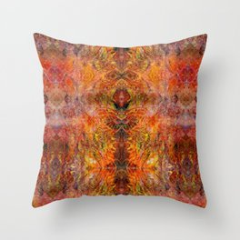 Abstract acrylic sunburst v1 Throw Pillow