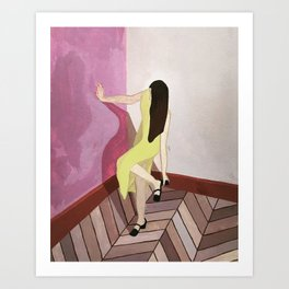 On My Way Art Print