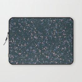 Denim Blue + Pink Splatter Print Laptop Sleeve