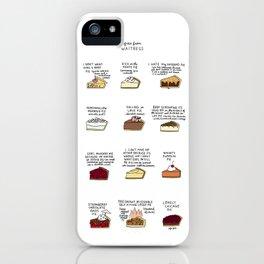 Waitress Pies iPhone Case
