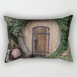 Entrance to one of the wine-cellar caves at the Rombauer winery in Californias Napa Valley Rectangular Pillow