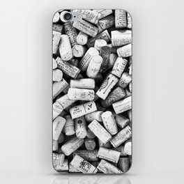 Something Nostalgic II Twist-off Wine Corks in Black And White #decor #society6 #buyart iPhone Skin