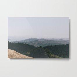 Mountain View of San Fransisco Metal Print