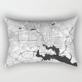 Baltimore Map Gray Rectangular Pillow