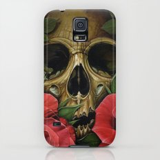 Skull with Roses Galaxy S5 Slim Case